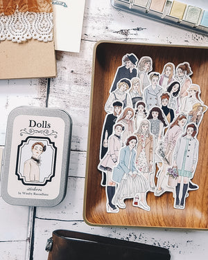 Dolls Story Stickers Tin