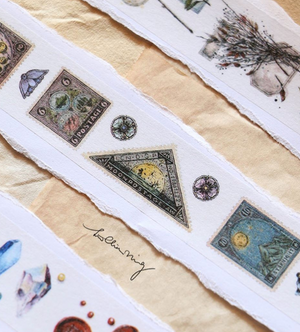 Antique Postage Stamp Masking Tape
