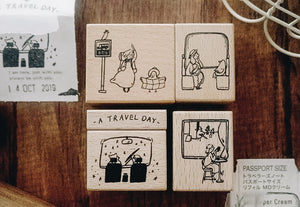 Yamadoro A Travel Day Rubber Stamps (Set of 5)