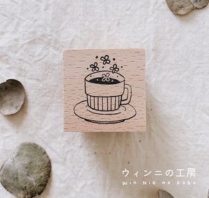 Coffee Break Rubber Stamp