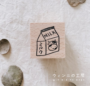 Milk Rubber Stamp
