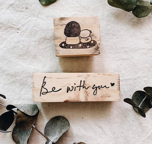 Be With You Rubber Stamp (Set of 2)