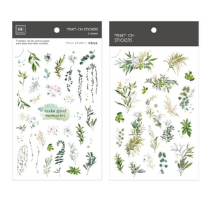 MU Print-On Stickers-105 Ferns and Leaves