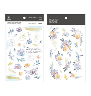 MU Print-On Stickers-107 Pastel Blooms