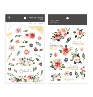 MU Print-On Stickers-109 Wonder Blooms