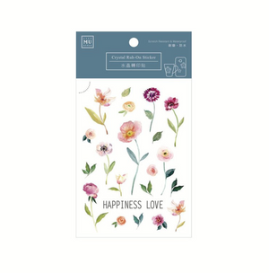MU Crystal Rub-On Sticker 001 Happy Blossoms