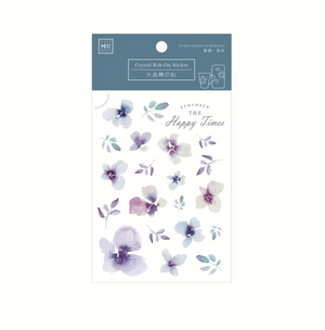 MU Crystal Rub-On Sticker 002 Purple Petals