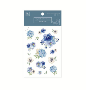 MU Crystal Rub-On Sticker 003 Periwinkle Hydrangea