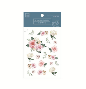 MU Crystal Rub-On Sticker 004 Romantic Roses