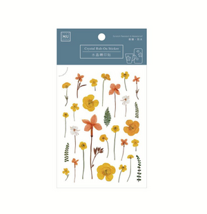 MU Crystal Rub-On Sticker 005 Pressed Honey Flowers