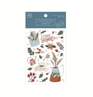MU Crystal Rub-On Sticker 010 Bloom, Baby, Bloom