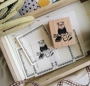 Daily Bear Rubber Stamp: Journaling Bear
