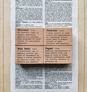 Liberty Dictionary Series Rubber Stamps (Set of 4)