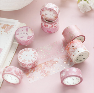 BGM Cherry Blossom Washi Tapes (3 designs/sold individually)
