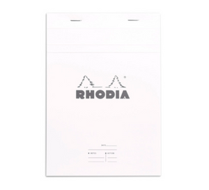 Rhodia - No 16 Top Staplebound Meeting White