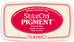Tsukineko - StazOn Pigment -Passion Red