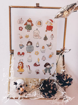 Msbulat Christmas Elf A Sticker Sheet