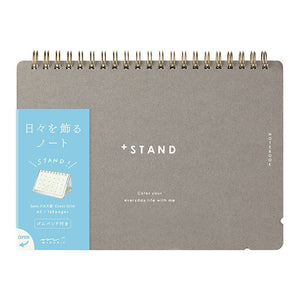 MD +Stand A5 Notebook Cross Grid