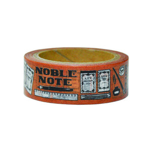 LIFE Noble 10th Anniversary Limited Edition Washi Tape - Tobacco