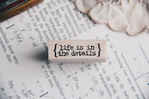 Catslife Press Life is In The Details Rubber Stamp