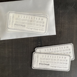 Lamp x Paperi Postale Number Cover Sticker