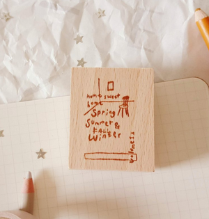 Yeoncharm Home Sweet Home Rubber Stamp
