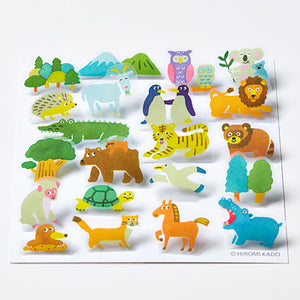 King Jim Pop-Up Stickers: POP003 Animal