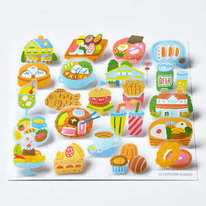 King Jim Pop-Up Stickers: POP004 Gourmet