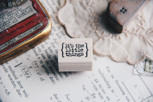 Catslife Press It's The Little Things Rubber Stamp