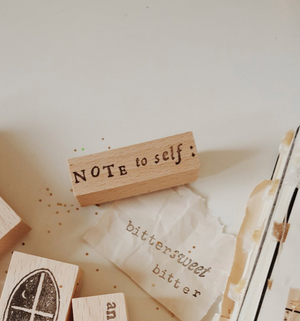 Yeoncharm Note to Self Rubber Stamp