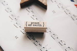 Catslife Press Peace On Earth Rubber Stamp