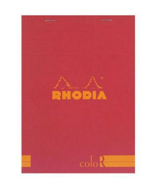 Rhodia - No 16 Top Staplebound Premium Lined Notepad Red