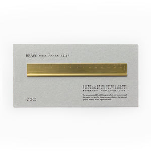Traveler's Notebook Brass Ruler