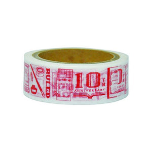 LIFE Noble 10th Anniversary Limited Edition Washi Tape - Vermilion