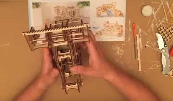 UGears Combine Assembly Timelapse Video