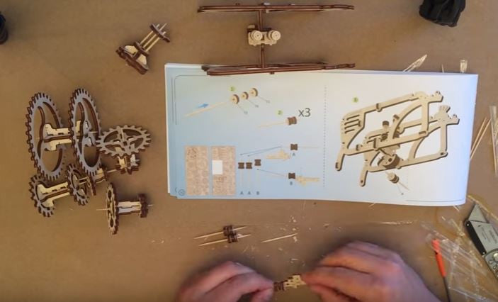 UGears Tractor Assembly Timelapse Video