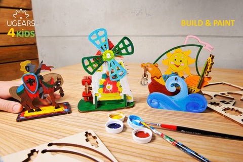 UGears 3D Wooden Coloring Models 4Kids for Kids 5+