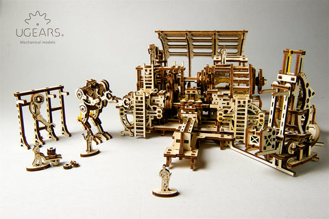 UGears Model Mechanical Town Series Robot Factory