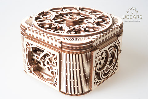 UGears Mechanical Model Treasure Box