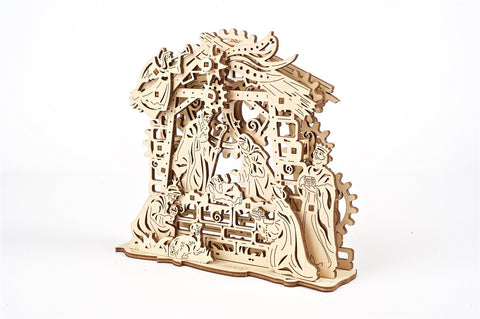 UGears Wooden Mechanical Model Kit Nativity Scene Christmas