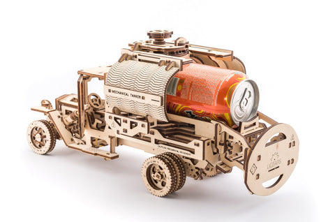 UGears Mechanical Wooden Model 3D Puzzle Kit Additions for Truck UGM-11, Tanker, Fire Ladder and Chassis