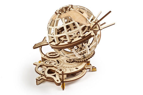 UGears Wooden Mechanical Model 3D Puzzle Kit Globus
