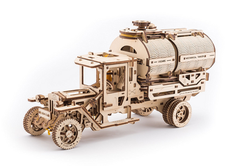 UGears Mechanical Wooden Model 3D Puzzle Kit Truck with Tanker