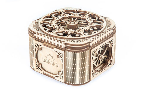 UGears Wooden Mechanical Model Treasure Jewelry Box