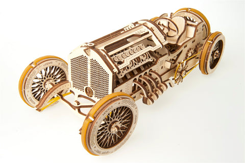 UGears Wooden Mechanical Model U-9 Grand Prix Car