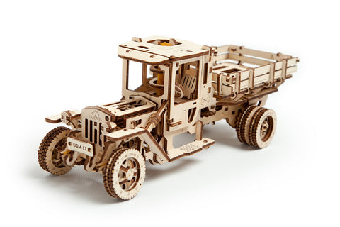 UGears Mechanical Wooden Model 3D Puzzle Kit Truck UGM-11