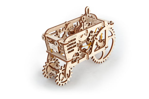 UGears Mechanical Wooden Model 3D Puzzle Kit Tractor