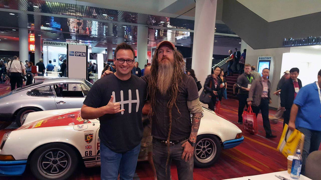 Tom @Porsche_Lab with Magnus Walker at SEMA