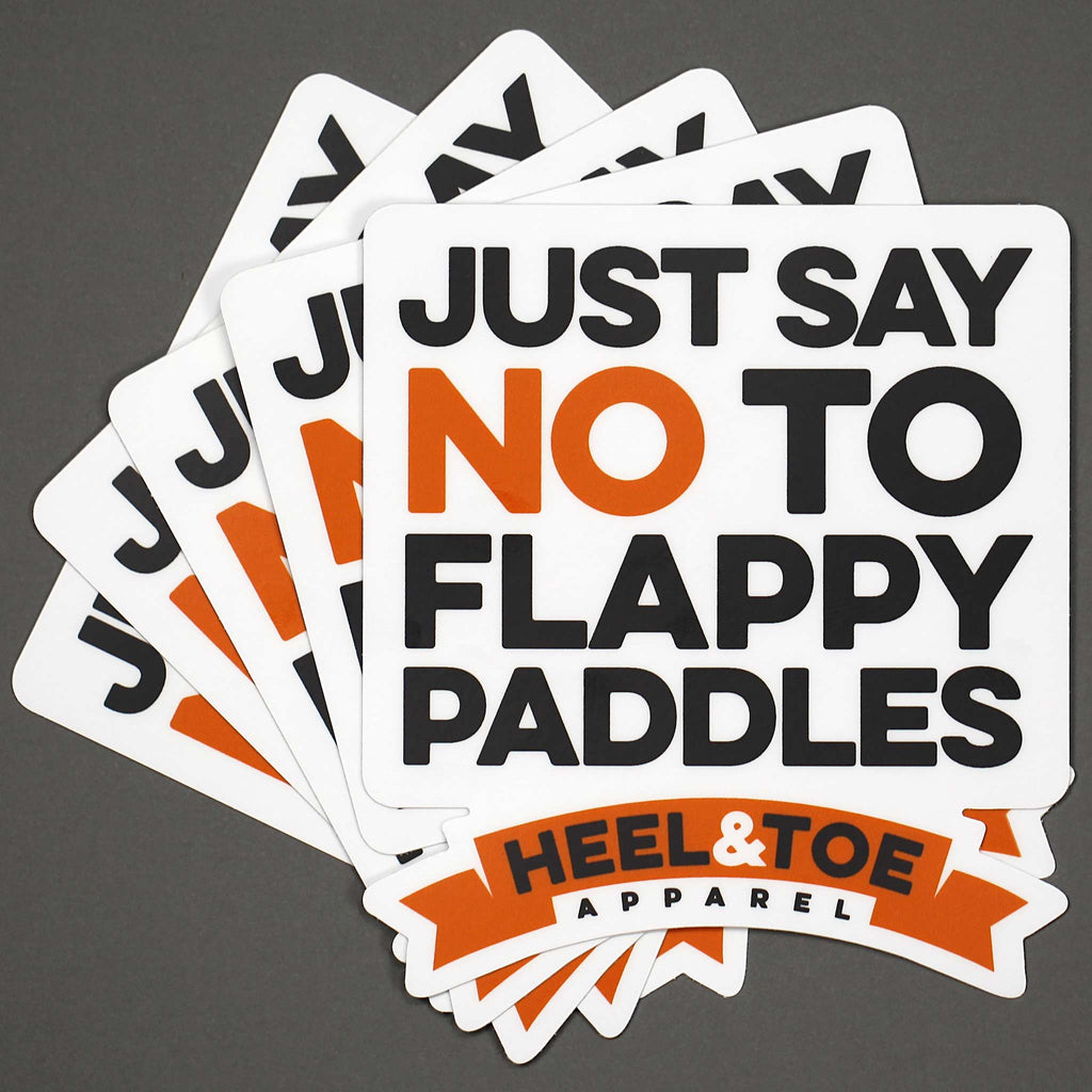 No To Flappy Paddles Sticker<br />(5-Pack)