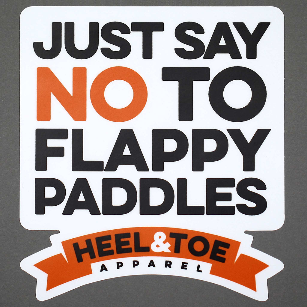 No To Flappy Paddles Sticker